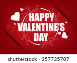 happy valentines day card...   Shutterstock .eps vector #357735707