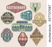 set of grunge vintage labels... | Shutterstock .eps vector #357737087