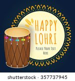 happy lohri celebration. vector ... | Shutterstock .eps vector #357737945