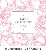happy valentines day card with... | Shutterstock .eps vector #357738341