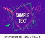 abstract geometric triangle and ... | Shutterstock .eps vector #357745175