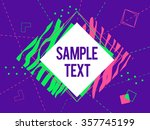 abstract geometric triangle and ... | Shutterstock .eps vector #357745199