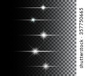 glowing lights and stars. | Shutterstock . vector #357750665