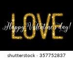 gold glittering lettering... | Shutterstock .eps vector #357752837