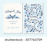 wedding invitation  thank you... | Shutterstock .eps vector #357763709