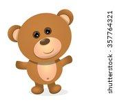 vector teddy bear isolated on... | Shutterstock .eps vector #357764321