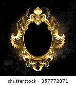 oval jewelry banner framed... | Shutterstock .eps vector #357772871