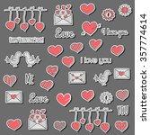 happy valentine's day icon in... | Shutterstock .eps vector #357774614