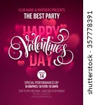 valentines day party poster... | Shutterstock .eps vector #357778391