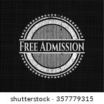 free admission written with... | Shutterstock .eps vector #357779315