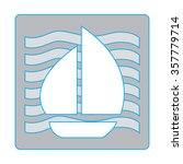 yacht icon boat icon boat... | Shutterstock .eps vector #357779714