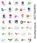 mega set of paper logo abstract ... | Shutterstock .eps vector #357783995