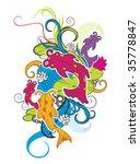 ornament fish | Shutterstock .eps vector #35778847