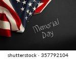 american flag on dark background | Shutterstock . vector #357792104