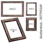 empty wooden frames | Shutterstock . vector #357793169