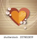 valentine's day background.... | Shutterstock .eps vector #357802859