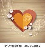 valentine's day background.... | Shutterstock .eps vector #357802859