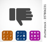 hand with thumb down  icon.... | Shutterstock .eps vector #357806231