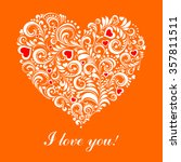 i love you. greeting card... | Shutterstock .eps vector #357811511