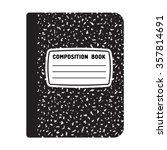 composition book template.... | Shutterstock .eps vector #357814691