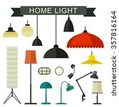 home light with lamps icons in... | Shutterstock .eps vector #357816164