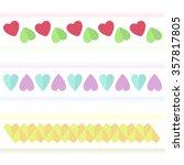 several variants of heart signs ... | Shutterstock .eps vector #357817805
