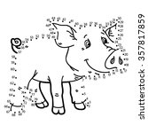dot to dot pig game. vector... | Shutterstock .eps vector #357817859