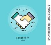 agreement  flat design thin... | Shutterstock .eps vector #357820679