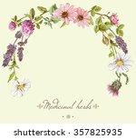 vector vintage hand drawn frame ... | Shutterstock .eps vector #357825935