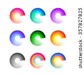 set of colorful round icons... | Shutterstock .eps vector #357827825