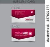 business card design set... | Shutterstock .eps vector #357831974