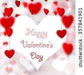 valentine hearts background.  | Shutterstock . vector #357841901