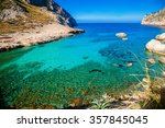 beautiful clear water at the... | Shutterstock . vector #357845045