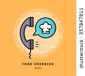 food ordering  flat design thin ... | Shutterstock .eps vector #357847811