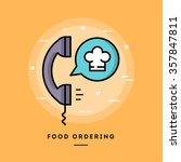 food ordering  flat design thin ... | Shutterstock .eps vector #357847811