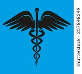caduceus medical symbol | Shutterstock .eps vector #357848249