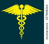 caduceus medical symbol | Shutterstock .eps vector #357848261