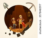 mining concept with manual... | Shutterstock .eps vector #357848597