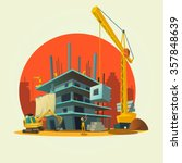 construction concept with retro ... | Shutterstock .eps vector #357848639