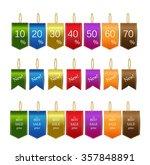 vector beautiful elegant tags... | Shutterstock .eps vector #357848891