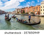 Gondola On Canal Grande In...
