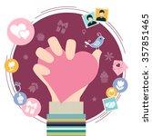 valentine's day symbols....   Shutterstock .eps vector #357851465