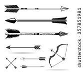 bow arrows | Shutterstock .eps vector #357851981