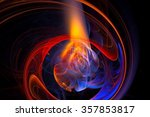 Abstract Fractal Flame And...