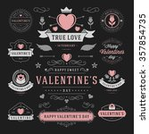 valentine's day labels and... | Shutterstock .eps vector #357854735