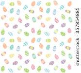 easter eggs pastel background...   Shutterstock .eps vector #357854885