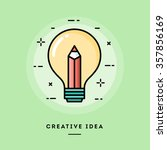 creative idea  flat design thin ... | Shutterstock .eps vector #357856169