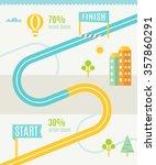 road map infographics template | Shutterstock .eps vector #357860291