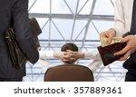 businessman taking bribe. ...   Shutterstock . vector #357889361