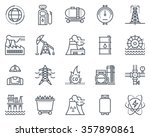energy industry icon set... | Shutterstock .eps vector #357890861
